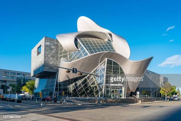 art gallery of alberta in downtown edmonton canada - edmonton stock pictures, royalty-free photos & images