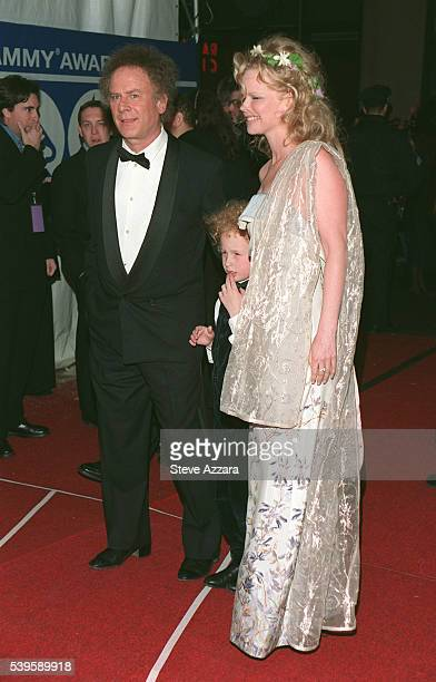 Art Garfunkel and his wife Kim and their son James arrive at the Radio City Music Hall
