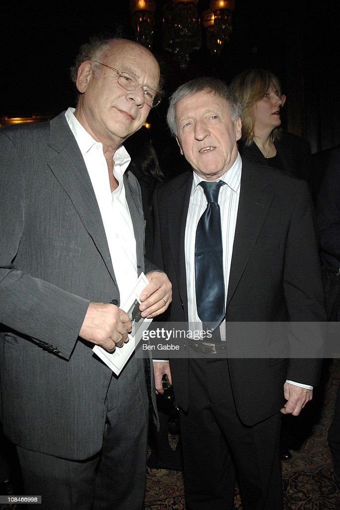 Art Garfunkel and Paddy Moloney attend the Gold Medal of Honor for Lifetime Achievement in Music at The National Arts Club on January 27, 2011 in New York City.