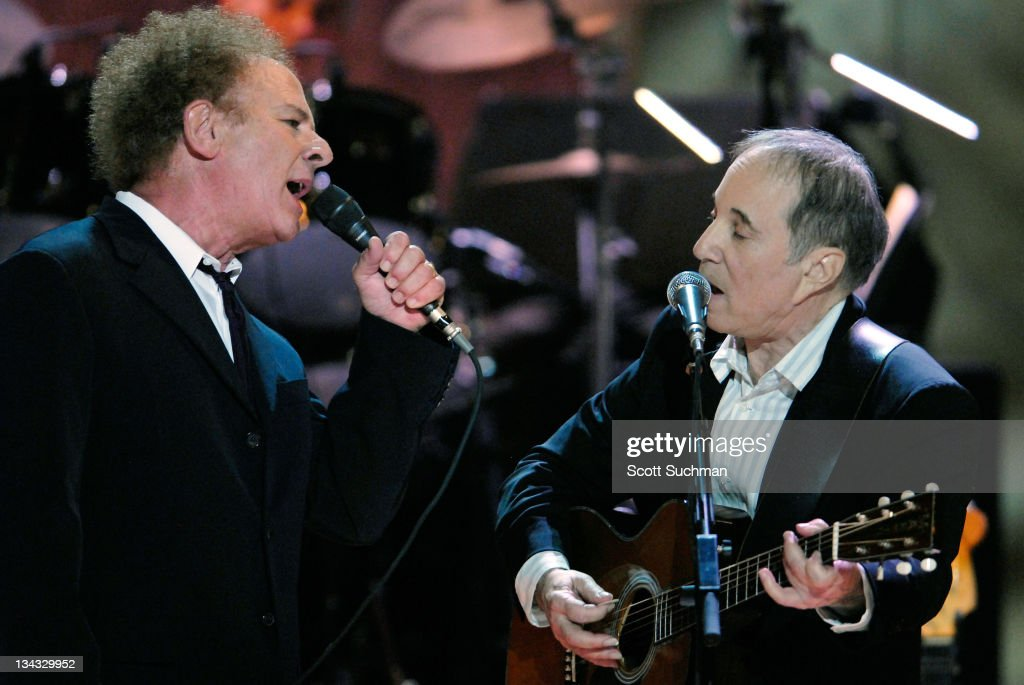 Art Garfunkel and Paul Simon during The Library of Congress Gershwin Prize for Popular Song Celebrates Paul Simon at The Warner Theatre in Washington, District of Columbia, United States.