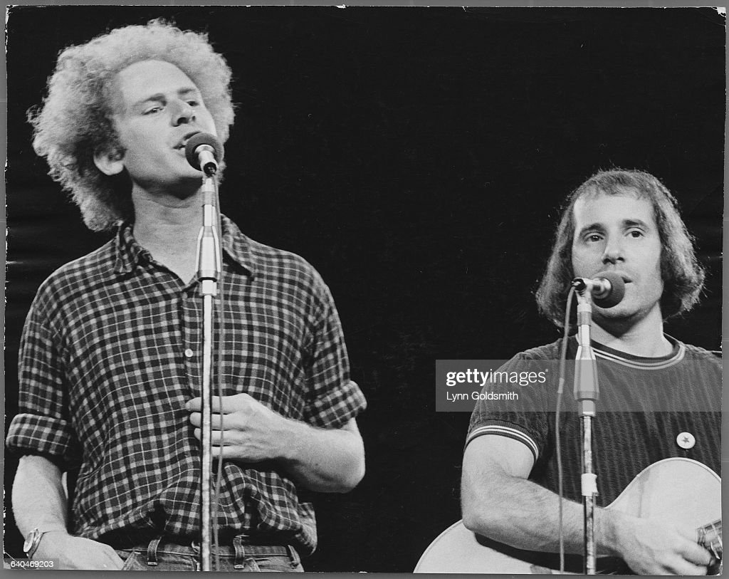 Art Garfunkel and Paul Simon Performing