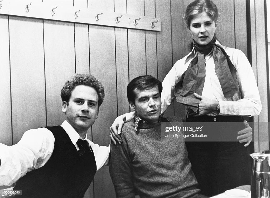 Art Garfunkel as Sandy, Jack Nicholson as Jonathan Fuerst, and Candice Bergen as Susan in Carnal Knowledge (1971).