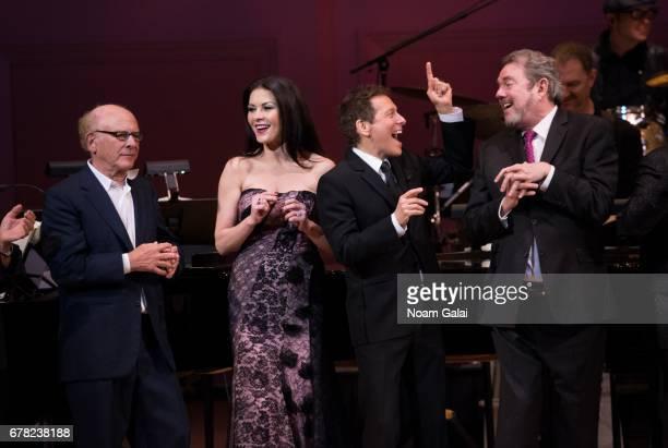 Art Garfunkel Catherine ZetaJones Michael Feinstein and Jimmy Webb perform during a tribute concert honoring Jimmy Webb at Carnegie Hall on May 3...