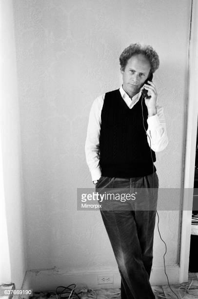 Art Garfunkel on a telephone in New York 15th February 1980