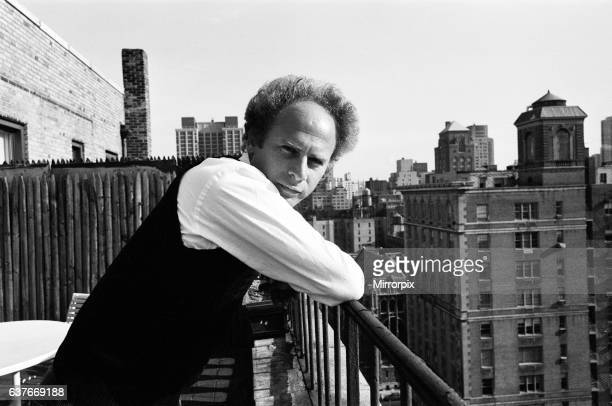 Art Garfunkel on the roof top of a building in New York 15th February 1980
