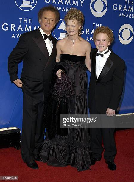 Art Garfunkel with his wife Kim and son James