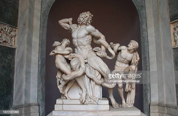 Art Greek Hellenistic Statue of Lacoon and his sons The sculpture is attributed by three sculptors from the island of Rhodes Agesander Athenedores...