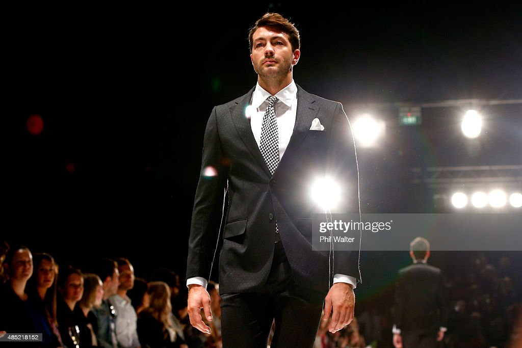 Art Green showcases designs by Working Style during the New Zealand Weddings Magazine Collection show at New Zealand Fashion Week 2015 on August 26, 2015 in Auckland, New Zealand.