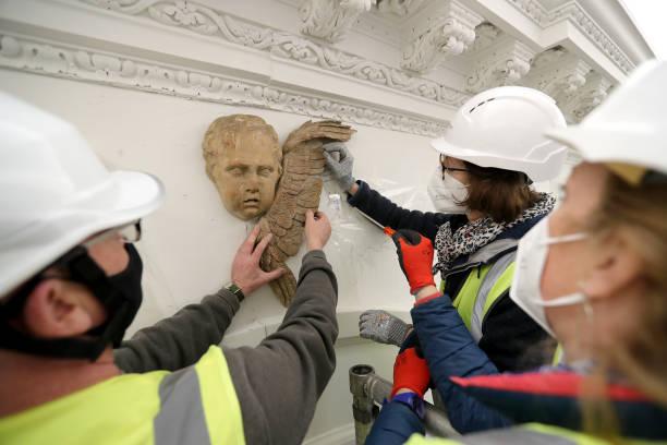 GBR: Historic Royal Palaces Conservation Work At Kensington Palace