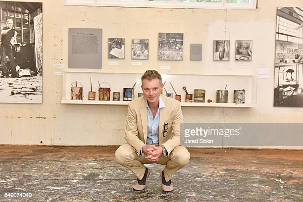 Art Historian and Royal Academy Artistic Director Tim Marlow pictured standing on the floor of Jackson Pollock's studio viewed during the Royal...
