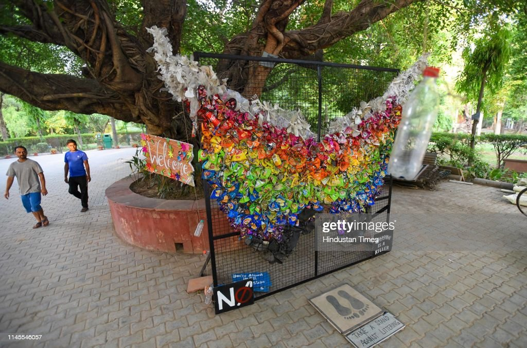 IND: Art Installation Made Out Of Garbage At Deer Park