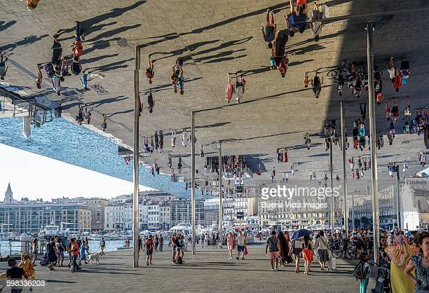 Art installation near the port of Marseille