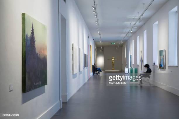 Art installations at the Irish Museum of Modern Art on 07th April 2017 in Dublin Republic of Ireland The Irish Museum of Modern Art also known as...