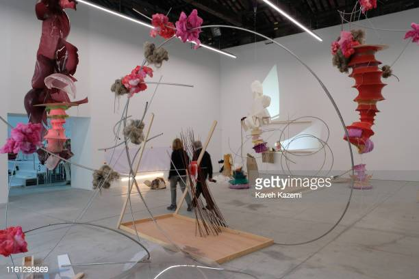 Art installations in a gallery during the ongoing Venice Art Biennale on May 22, 2019 in Venice, Italy.