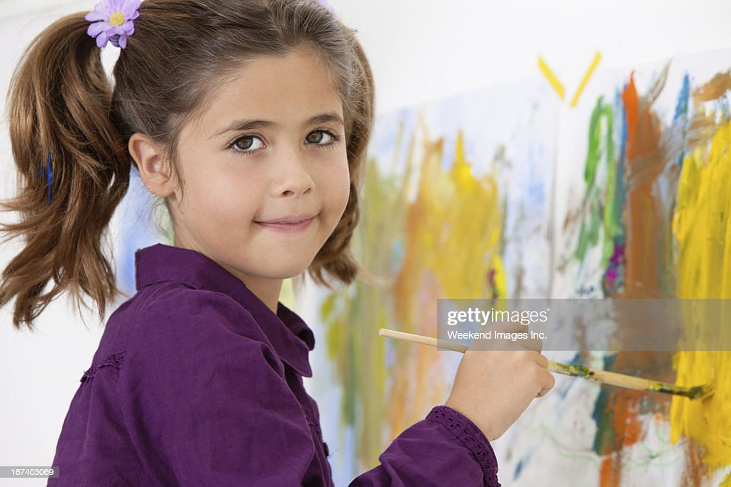 Art lesson : Stock Photo