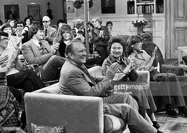 Art Linkletter is seen with his wife Lois Foerster and son Jack Linkletter at America Live Studios on October 9, 1978 in New York City. According to...