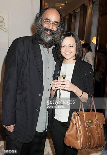 Art Malik and daughter Jessica attend the Dreamworks PreBAFTA Tea Party in celebration of 'The Help' and 'War Horse' at The Arts Club on February 11...