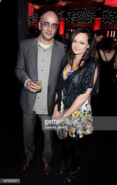 Art Malik and daughter Jessica attend the Moet British Independent Film Awards 2010 Champagne Reception on December 5 2010 in London England