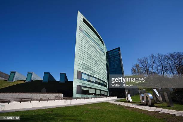 kumu, art museum of estonia - estonia stock pictures, royalty-free photos & images