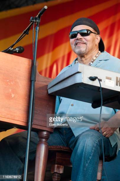 Art Neville of The Neville Brothers performing at the New Orleans Jazz and Heritage Festival in New Orleans, Louisiana on May 8, 2011.