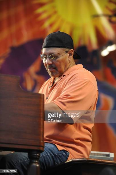 Art Neville of The Neville Brothers performs on Day 4 of the 2nd Weekend of the 40th Annual New Orleans Jazz & Heritage Festival Presented by Shell...