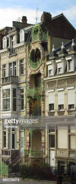 art nouveau architecture - art nouveau stock pictures, royalty-free photos & images