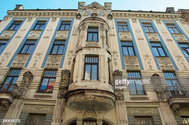 Art Nouveau Building Designed By Mikhail Eisenstein On 8 Alberta Street Riga Latvia