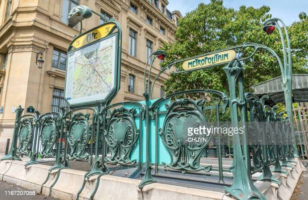 art nouveau by paris - art nouveau stock pictures, royalty-free photos & images