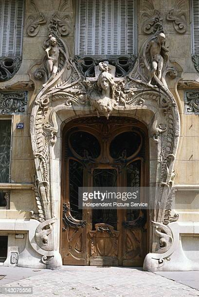 Art Nouveau doorway of an apartment building by French architect Jules Lavirotte Paris