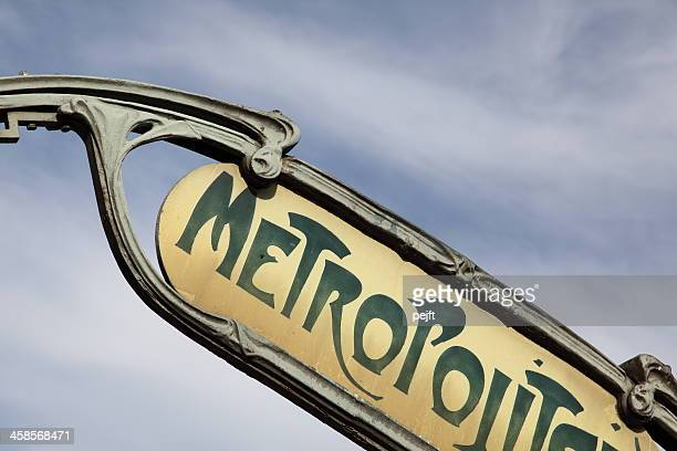 Art Nouveau, Paris metro sign