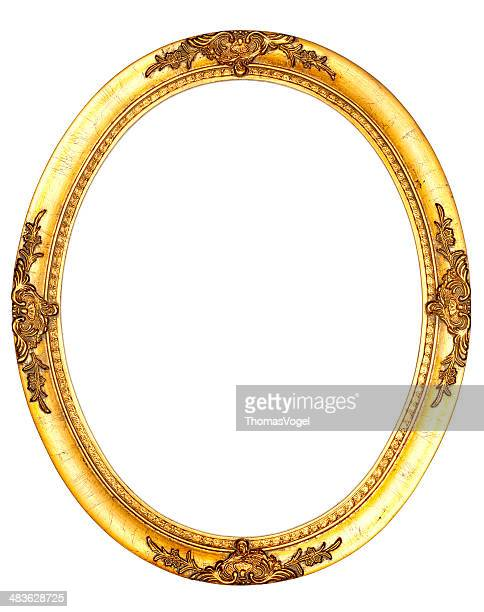 art nouveau picture frame viii - vintage retro old - oval shaped objects stock pictures, royalty-free photos & images