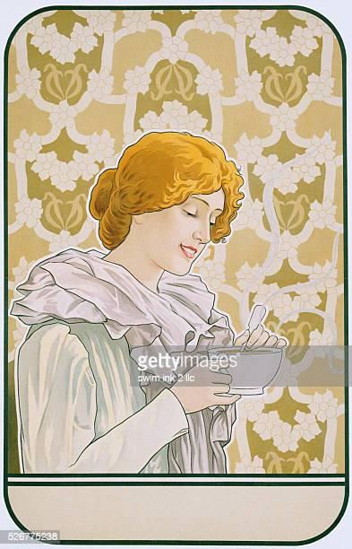 Art Nouveau Poster Advertising Hot Chocolate