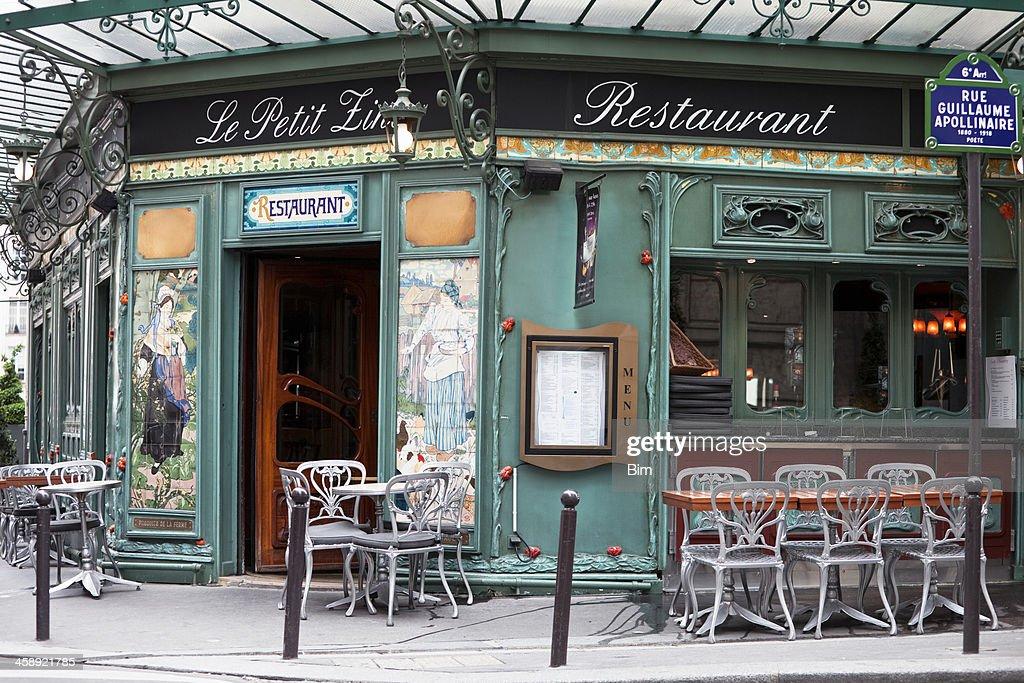art nouveau restaurant in saint germain paris france stock photo