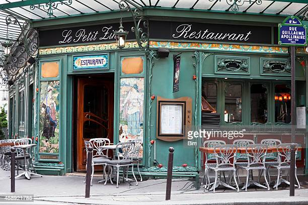 art nouveau restaurant in saint germain, paris, france - franse cultuur stockfoto's en -beelden