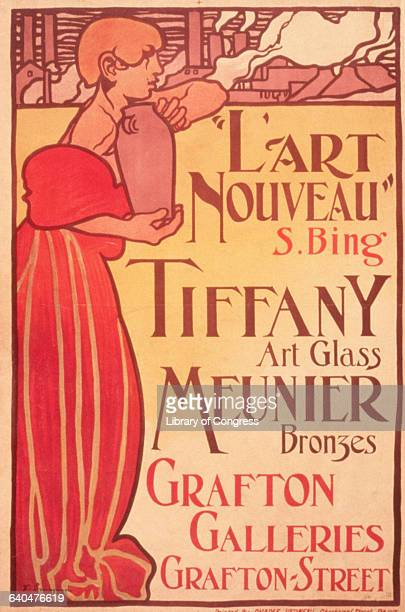 L'Art Nouveau S Bing Tiffany Art Glass Meunier Bronzes Grafton Galleries by Sir Frank Brangwyn