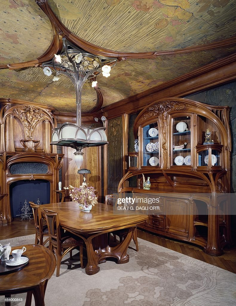 Art Nouveau Style Dining Room 1903 1906 By Eugene Vallin 1856