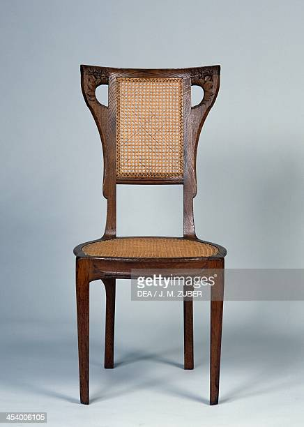 Art Nouveau Style Dining Room Chair 19051908 By Henri BelleryDesfontaines Oak And Straw France 20th Century