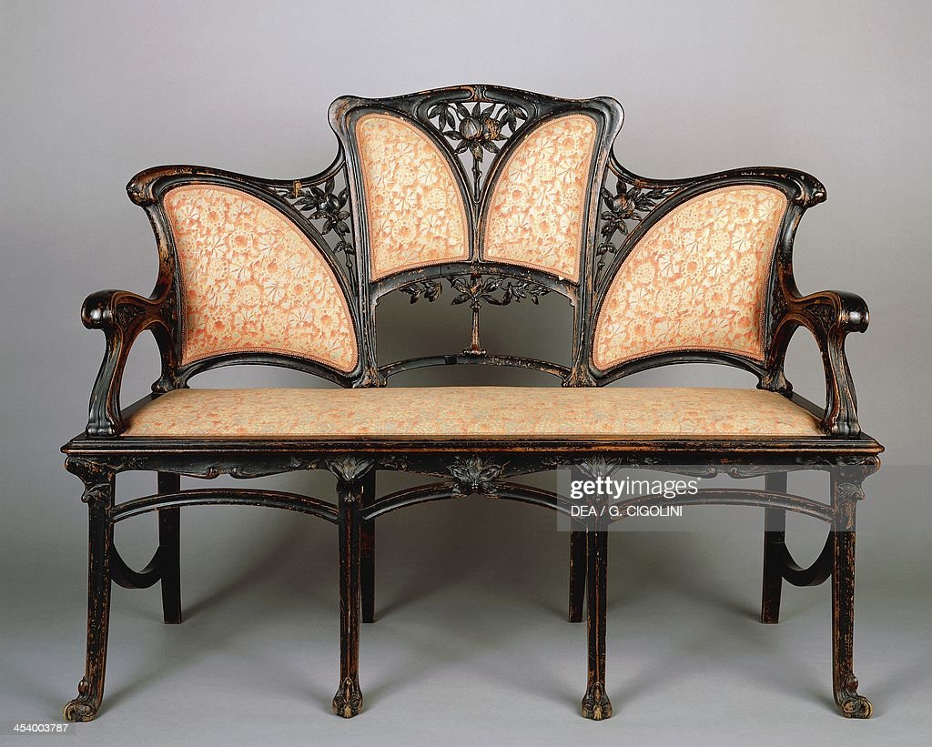 Art nouveau sofa art nouveau couch 2 gold french sofa sold for French furniture designers 20th century