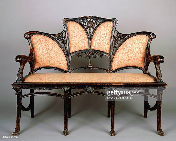 Art Nouveau style sofa Italy 20th century