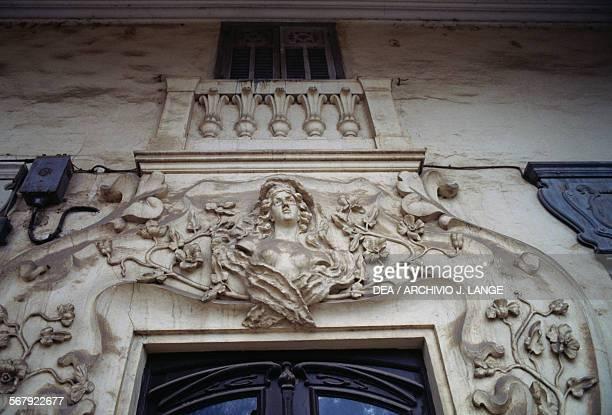 Art Nouveaustyle decoration above the door of a building Bejaia Algeria
