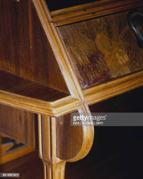Art Nouveaustyle mahogany and oak sideboard by Louis Majorelle France 19th century Detail