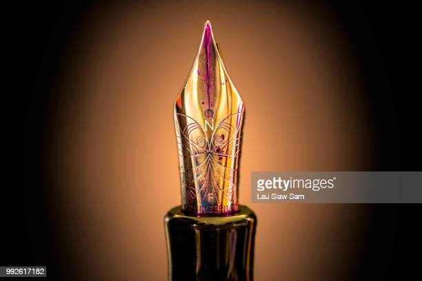 art of writing - fountain pen stock pictures, royalty-free photos & images