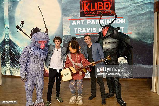 Art Parkinson and Travis Knight are seen on the set of Univisions Despierta America to support the film Kubo and the Two Strings at Univision Studios...