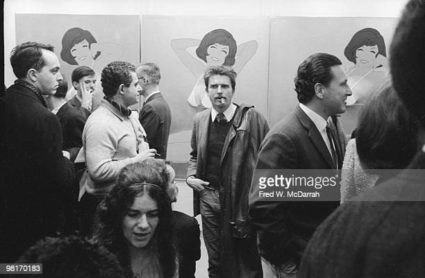 Art patrons attend the 'First International Girlie Exhibit' at the Pace Gallery New York New York January 7 1964 The exhibition explored the...