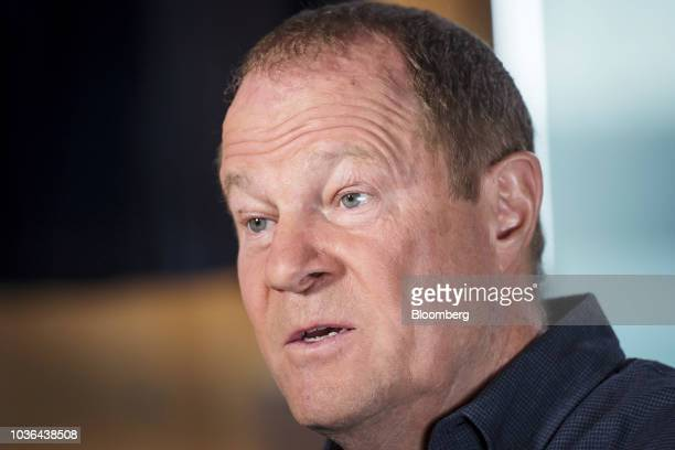 Art Peck president and chief executive officer of Gap Inc stands for a photograph following a Bloomberg Technology Television interview in San...