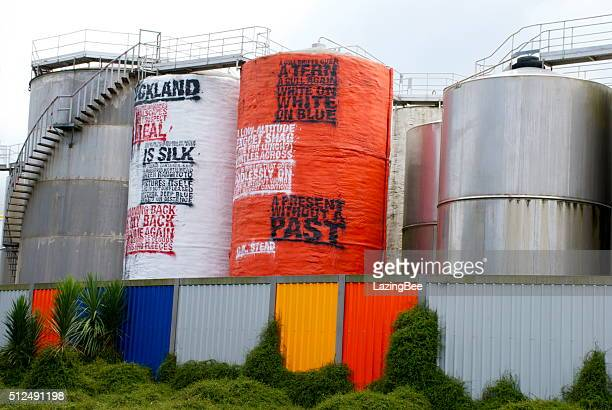 Art Poetry in Silo Park, Auckland's Waterfront Attraction, NZ