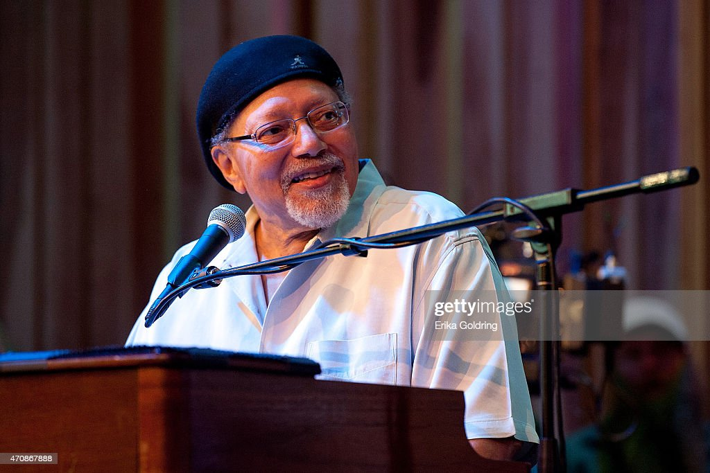 Art 'Poppa Funk' Neville of the original The Meters performs during the Jazz Fest Postal Cachet unveiling at George and Joyce Wein Jazz & Heritage Center on April 23, 2015 in New Orleans, Louisiana.