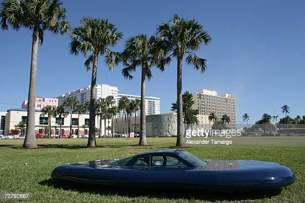 Art projects are displayed throughout Miami Beach during Art Basel on December 10 2006 in Miami Beach Florida