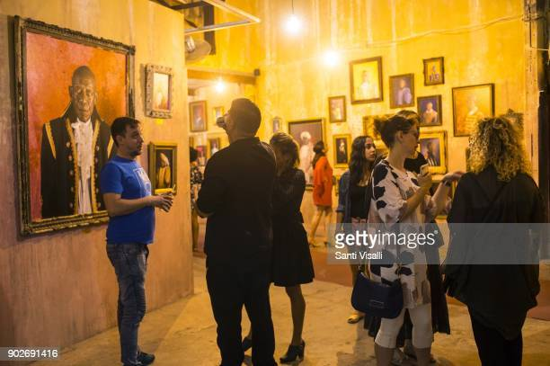 Art show at the Factory on November 3 2017 in Havana Cuba