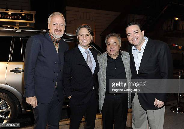 Art Smith Niche Media CEO Jason Binn Lee Schrager and Todd Hatoff of Allen Brothers Steaks attend the kick off of the NYC Wine Food Festival with...